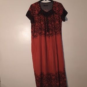 Full length ladies dress.